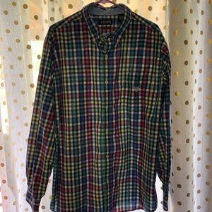 Men's Chaps plaid button down shirt XXL
